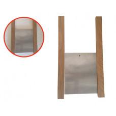 Aluminium kippendeur met eiken geleiders