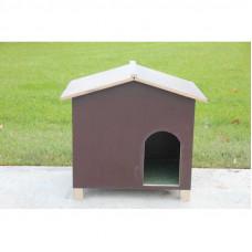 Betonplex slaaphok voor konijnen.