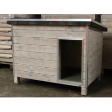 Geisoleerd hondenhok cottage 3 grijs