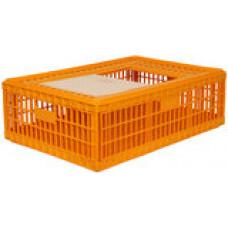 Transportkist voor pluimvee oranje (85x65x27 cm)