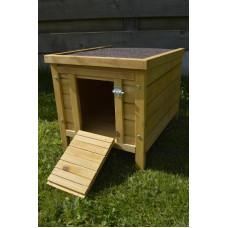 Legnest voor kippen enkel roofing dak